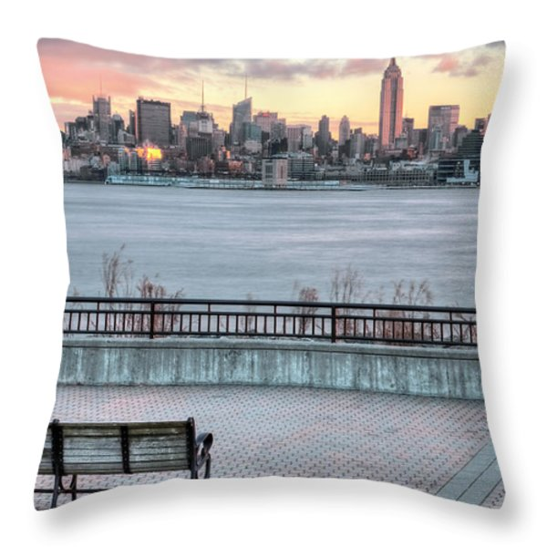Coffee Anyone Throw Pillow by JC Findley