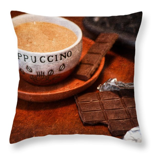 Coffee Break Throw Pillow by Alexander Senin