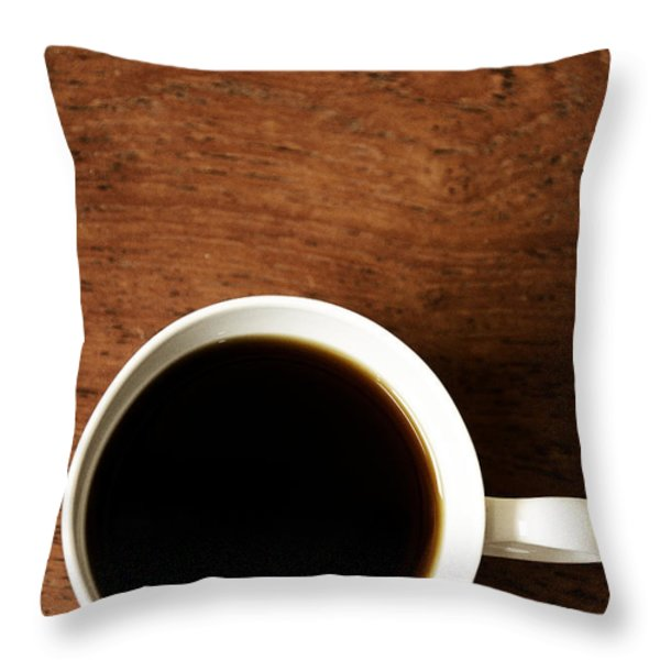 Coffee Break Throw Pillow by Birgit Tyrrell