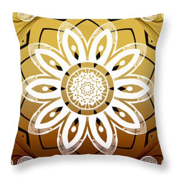 Coffee Flowers Calypso Triptych 2 Horizontal   Throw Pillow by Angelina Vick