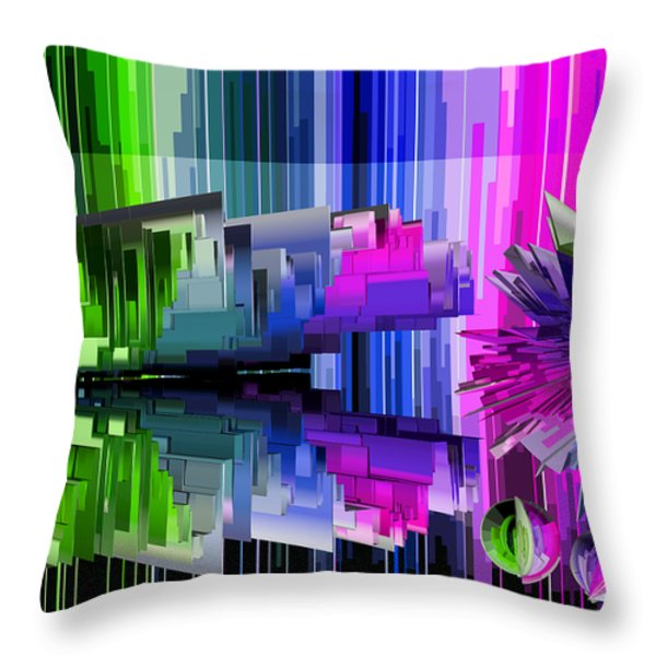 Cognitive Dissonance 2 Throw Pillow by Angelina Vick