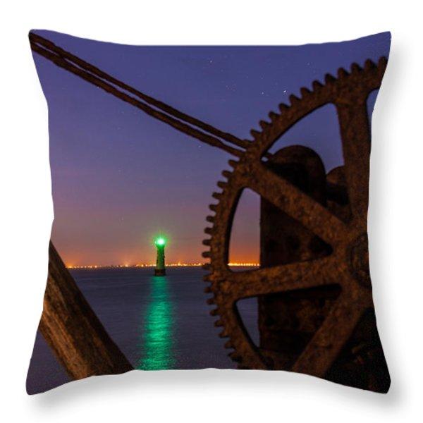 Cogwheel Framing Throw Pillow by Semmick Photo