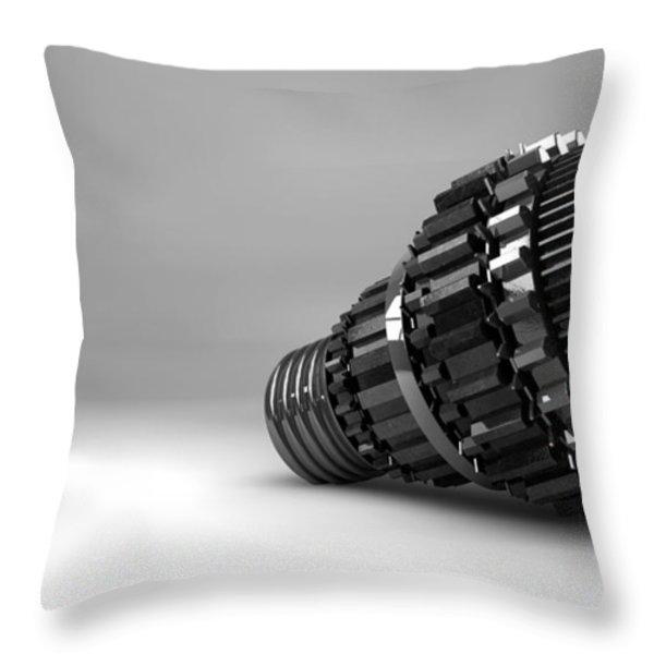 Cogwheel Lightbulb Shape Concept Throw Pillow by Allan Swart