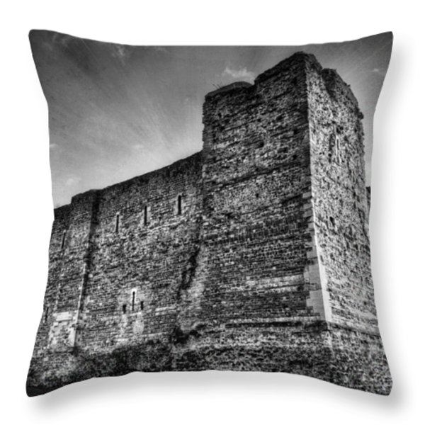 Colchester Castle Throw Pillow by Svetlana Sewell