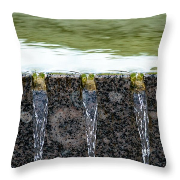 Cold And Clear Water - Featured 3 Throw Pillow by Alexander Senin