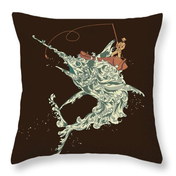 Cold Blooded Ocean Throw Pillow by Budi Satria Kwan