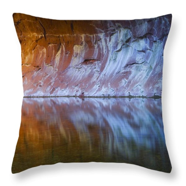 Cold Fire Throw Pillow by Peter Coskun