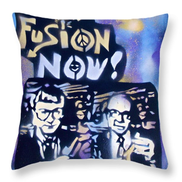 Cold Fusion Now Blue Throw Pillow by Tony B Conscious