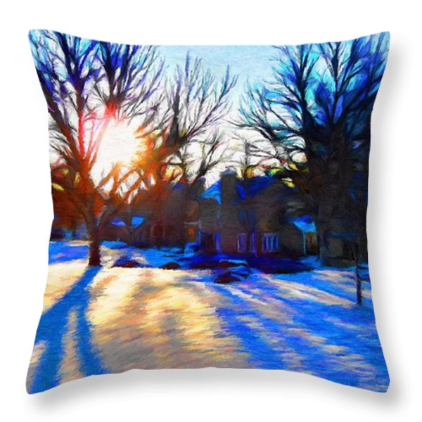 Cold Morning Sun Throw Pillow by Jeff Kolker