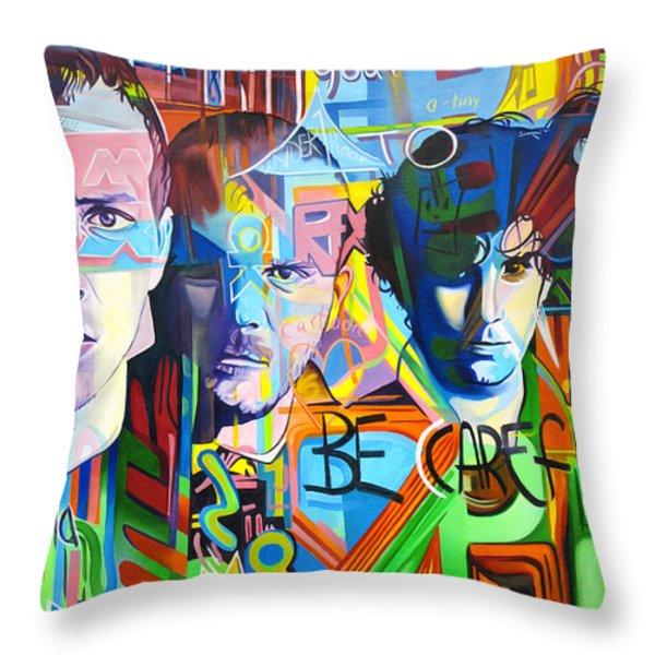 Coldplay Throw Pillow by Joshua Morton