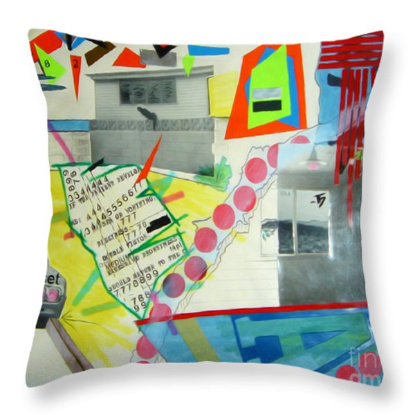 Collage 444 Throw Pillow by Bruce Stanfield