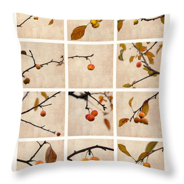 Collage Paradise Apple Throw Pillow by Alexander Senin
