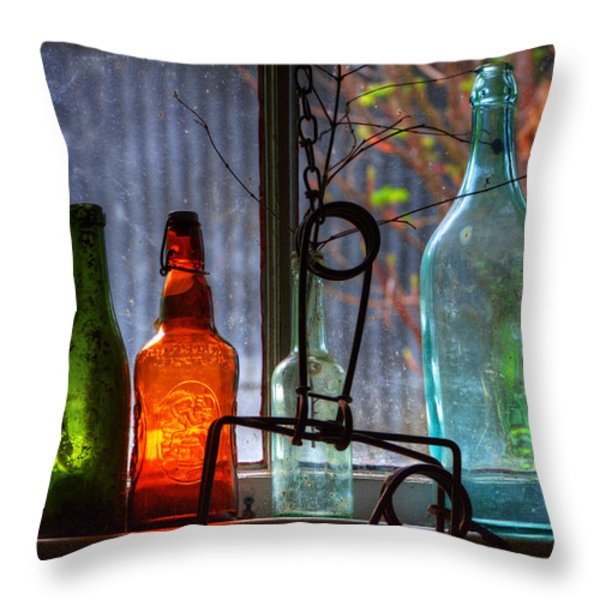 Collecting Memories Throw Pillow by Bob Christopher