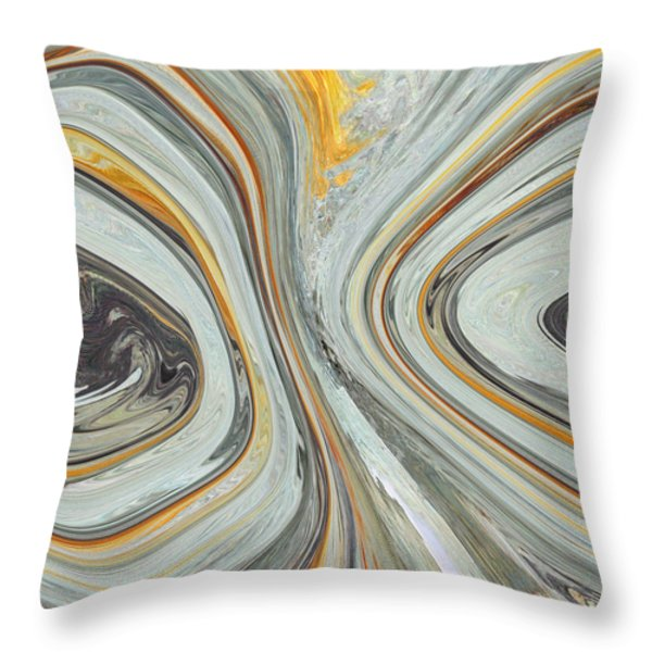 Colliding Circles Throw Pillow by Christine  Dekkers