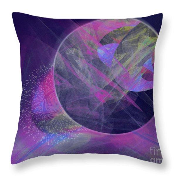 Collision Throw Pillow by Victoria Harrington