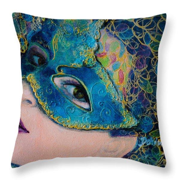Colombina's Sight Throw Pillow by Dorina  Costras