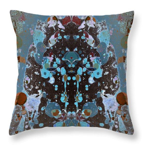 Color Abstraction No. 4 Throw Pillow by David Gordon