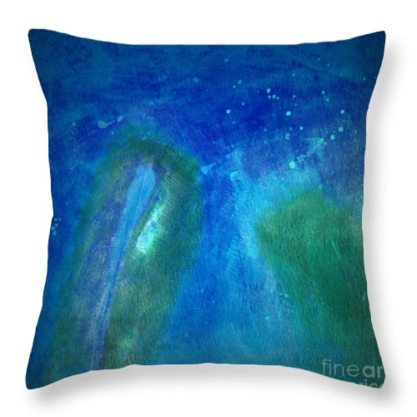 Color Abstraction VIII Throw Pillow by David Gordon