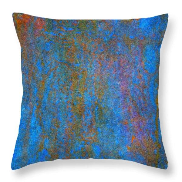 Color Abstraction Xiv Throw Pillow by David Gordon