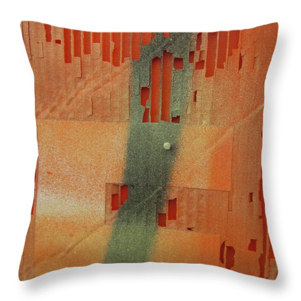 Color And Texture Throw Pillow by Alfred Ng