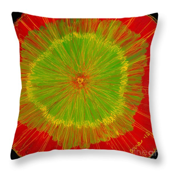 Color burst 2 Throw Pillow by Anna Skaradzinska