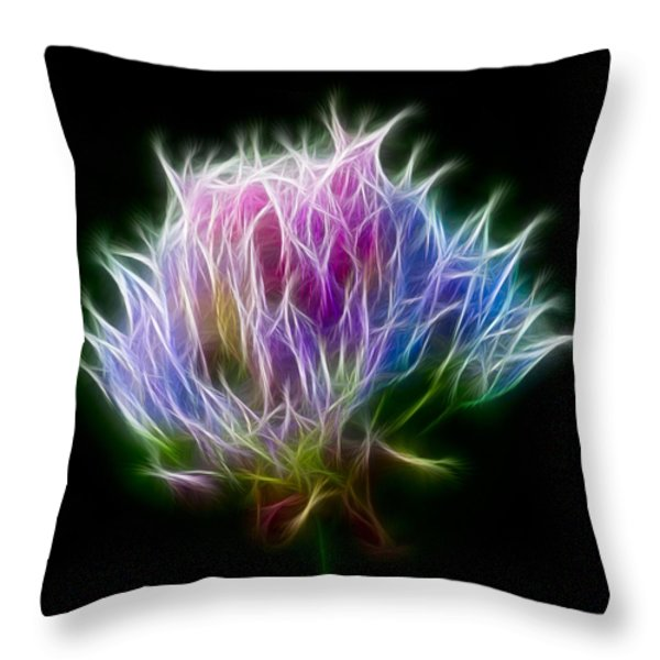Color Burst Throw Pillow by Adam Romanowicz