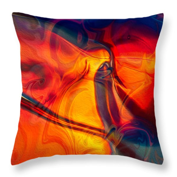 Color Conception Throw Pillow by Omaste Witkowski