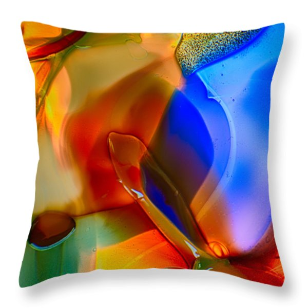 Color Friends Throw Pillow by Omaste Witkowski