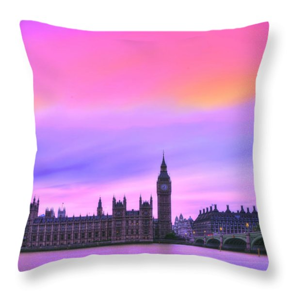 Color My World Throw Pillow by Midori Chan