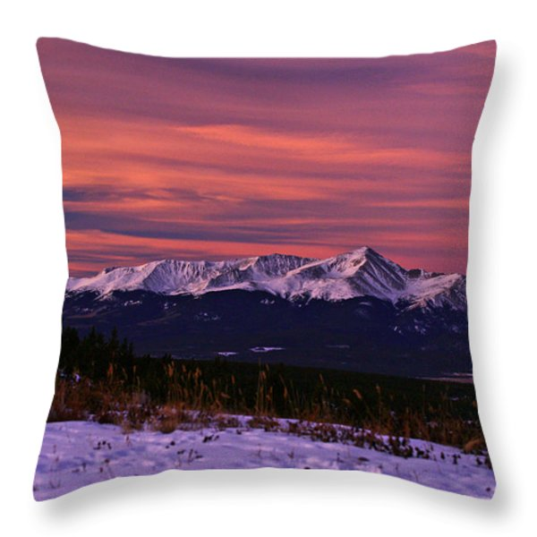 Color Of Dawn Throw Pillow by Jeremy Rhoades