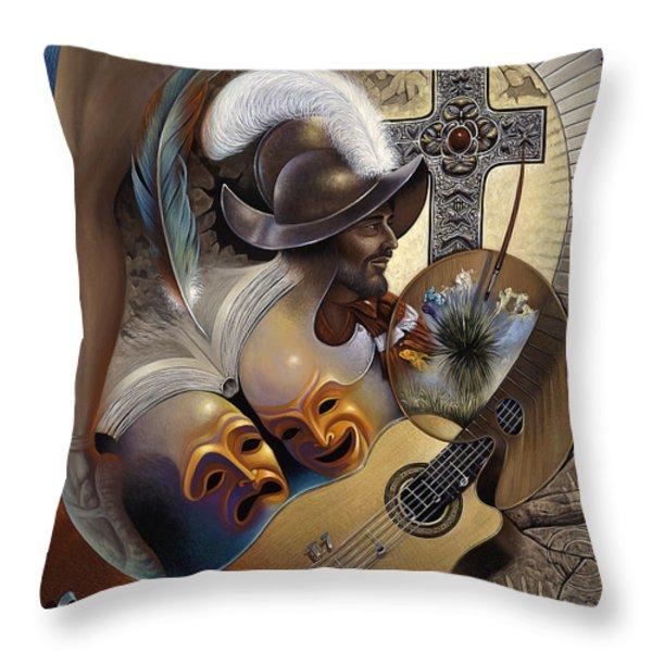 Color y Cultura Throw Pillow by Ricardo Chavez-Mendez