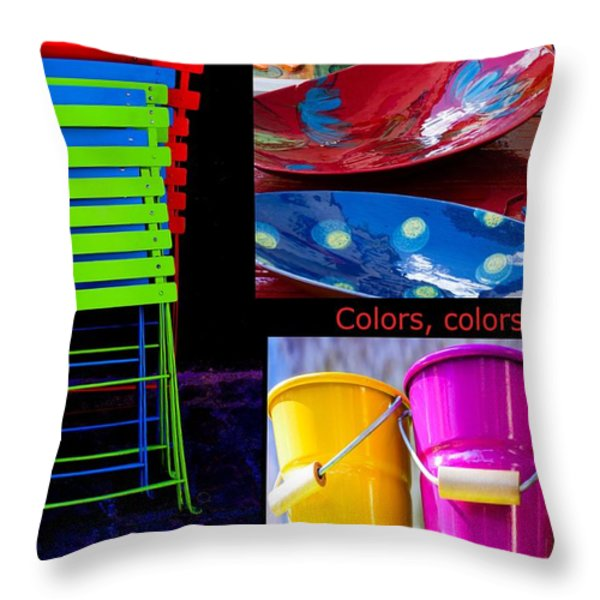 Color Your Life 1 Throw Pillow by Dany  Lison