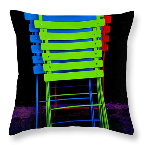 Color Your Life 3 Throw Pillow by Dany  Lison