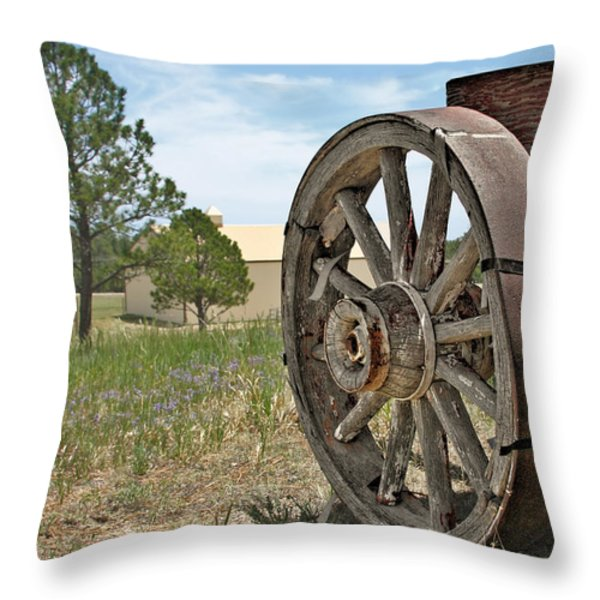 Colorado - Where the Columbines Grow Throw Pillow by Christine Till