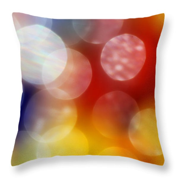Colorful Abstract 4 Throw Pillow by Mary Bedy