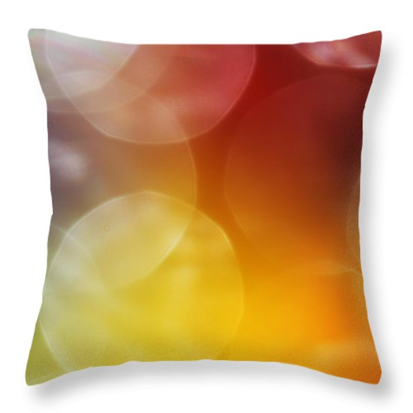 Colorful Abstract 7 Throw Pillow by Mary Bedy