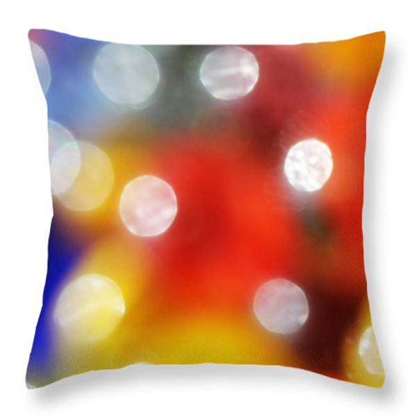 Colorful Abstract 8 Throw Pillow by Mary Bedy