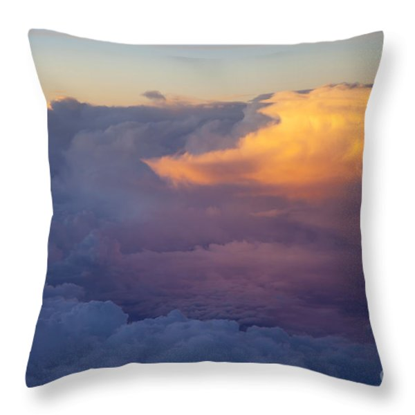 Colorful Cloud Throw Pillow by Brian Jannsen