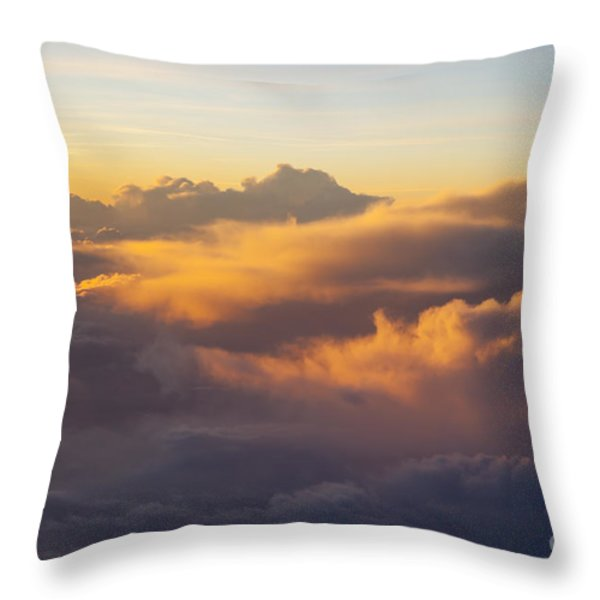 Colorful Clouds Throw Pillow by Brian Jannsen