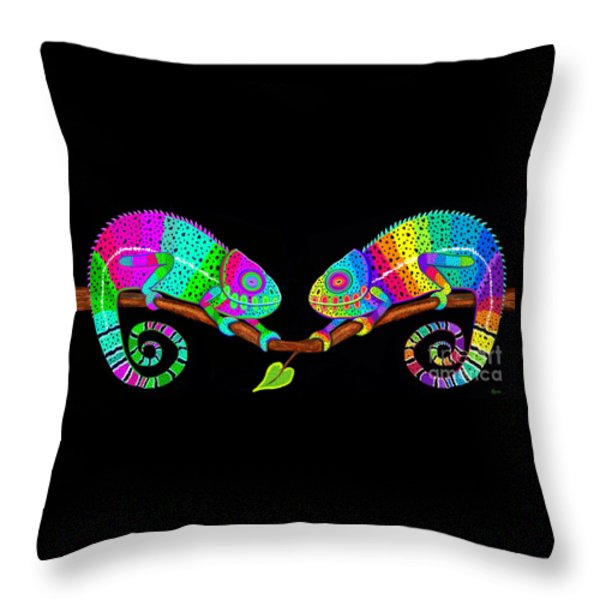 Colorful Companions Throw Pillow by Nick Gustafson