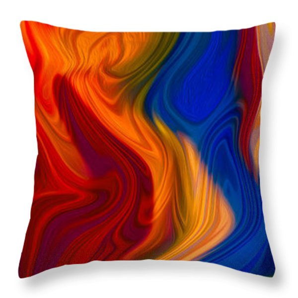 Colorful Compromises II Throw Pillow by Omaste Witkowski