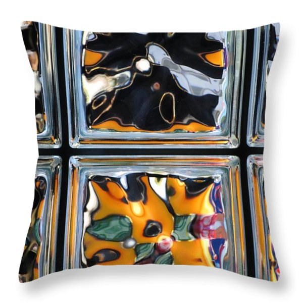 Colorful Contortion Throw Pillow by Frozen in Time Fine Art Photography