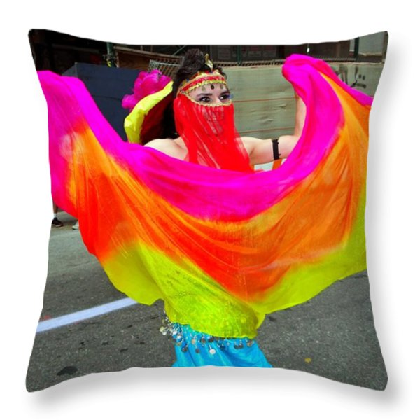 Colorful Dance Throw Pillow by Ed Weidman