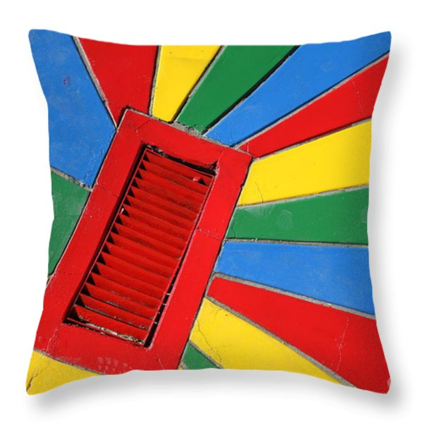 Colorful Drain Throw Pillow by James Brunker