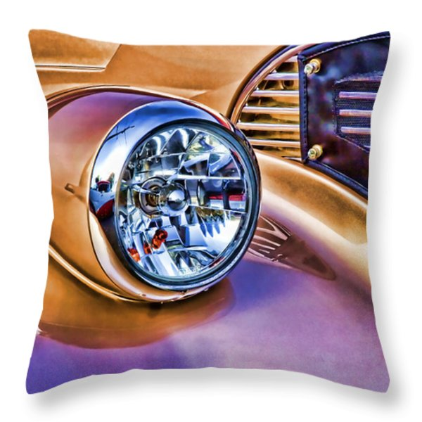 Colorful Hotrod Throw Pillow by Carol Leigh