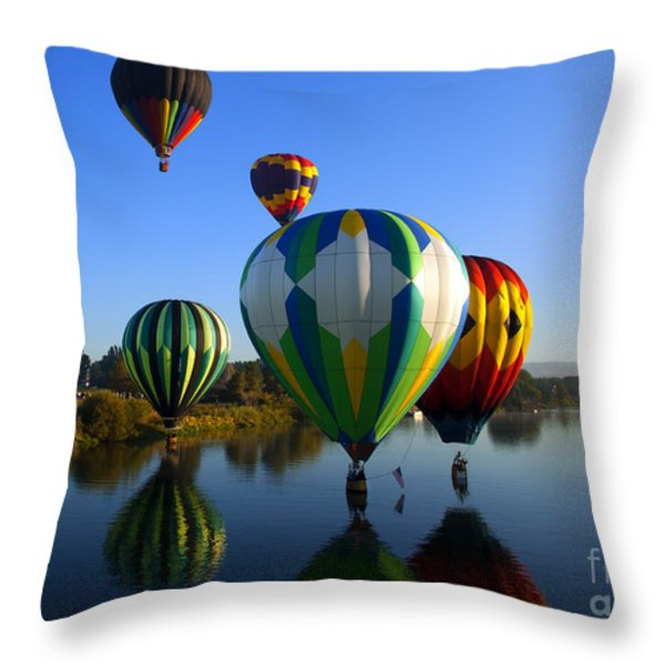 Colorful Landings Throw Pillow by Mike  Dawson