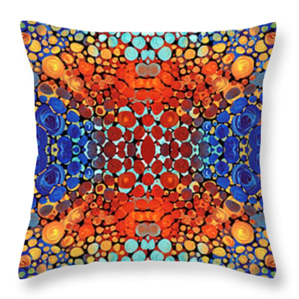 Colorful Layers - Abstract Art By Sharon Cummings Throw Pillow by Sharon Cummings