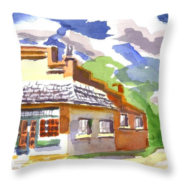 Colorful May Morning Throw Pillow by Kip DeVore