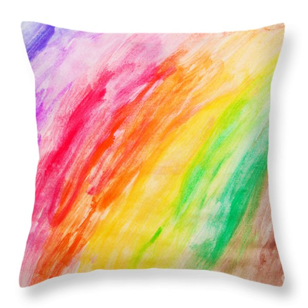 Colorful Painting Pattern Throw Pillow by Michal Bednarek