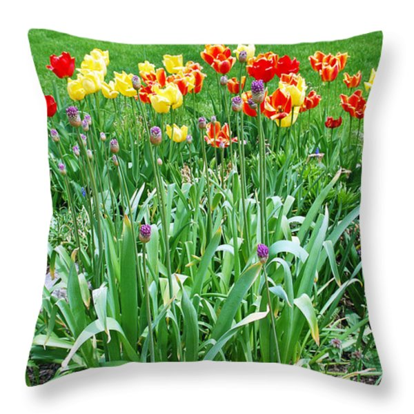 Colorful Spring Throw Pillow by Aimee L Maher Photography and Art